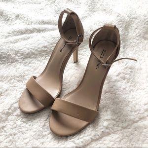 Nude one strap heels!